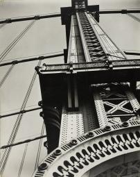 1936 - Manhattan Bridge Looking Up