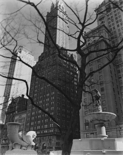 1937 - Central Park Plaza, from Fifth Avenue at 58th Street